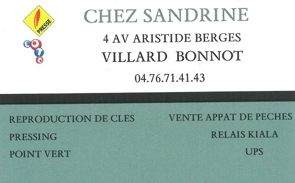 CHEZ SANDRINE - VILLARD BONNOT